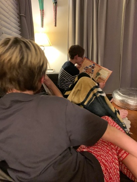 Reading The Night before Christmas in 2019