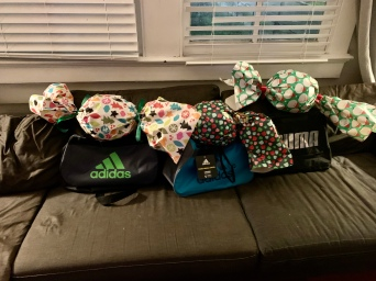 I'm quite proud of how I wrapped the soccer balls