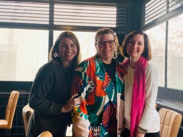 Kristie, me, Ann in 2019